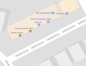 the Chelford Grove map